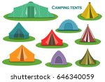 set of camping tent icons.... | Shutterstock .eps vector #646340059