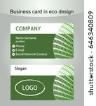 business card template in green ...
