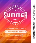 retro summer party design... | Shutterstock .eps vector #646341931