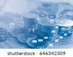 double exposure of money and... | Shutterstock . vector #646342309