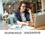 modern business woman in city...   Shutterstock . vector #646344949