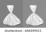 transparent plastic bag.... | Shutterstock .eps vector #646345411