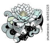 artistic illustration of koi...   Shutterstock .eps vector #646351225