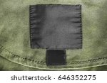 blank black clothes label on... | Shutterstock . vector #646352275