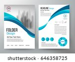 folder design flyer template... | Shutterstock .eps vector #646358725