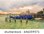 sunset in venice  italy... | Shutterstock . vector #646359571