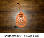 traditional easter decorations... | Shutterstock . vector #646361131