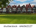Front View Of Dutch Rural Smal...