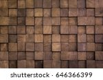 Wall Texture With Wood Cube Fo...