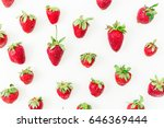 strawberry on white background. ... | Shutterstock . vector #646369444