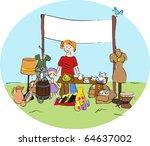 yard sale   vector.   Shutterstock .eps vector #64637002