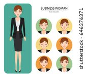 business woman avatar and... | Shutterstock .eps vector #646376371