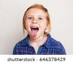 Happy Redhead Little Girl In...