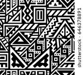 creative ethnic style square... | Shutterstock .eps vector #646378891