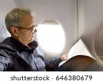 middle aged caucasian man... | Shutterstock . vector #646380679