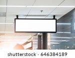 blank advertising billboard at... | Shutterstock . vector #646384189