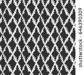 seamless brushpen doodle... | Shutterstock .eps vector #646390309