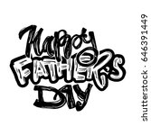 fathers day concept hand... | Shutterstock .eps vector #646391449