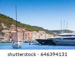 moored yachts  port of... | Shutterstock . vector #646394131