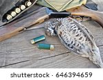 hunting rifle  bandoleer belt... | Shutterstock . vector #646394659