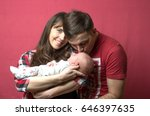 new born baby with parents | Shutterstock . vector #646397635