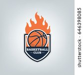 basketball sport logo template...