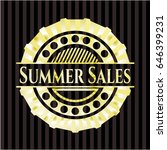 summer sales golden badge