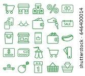 sale icons set. set of 25 sale...   Shutterstock .eps vector #646400014