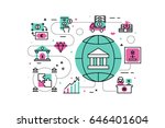 banking and finance line icons... | Shutterstock .eps vector #646401604