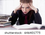 i hate my office work. office... | Shutterstock . vector #646401775
