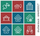 property icons set. set of 9...   Shutterstock .eps vector #646403317