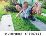 cute little asian 1 year old...   Shutterstock . vector #646407895