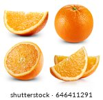 orange fruits collection... | Shutterstock . vector #646411291