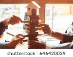 balancing the property sector... | Shutterstock . vector #646420039