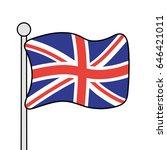 united kingdom flag. great...   Shutterstock .eps vector #646421011