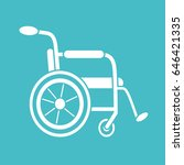 wheelchair vector icon.... | Shutterstock .eps vector #646421335