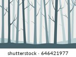 forest seamless pattern with... | Shutterstock .eps vector #646421977