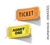 entrance tickets. vector. | Shutterstock .eps vector #64642321