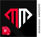 initials letter m   m in... | Shutterstock .eps vector #646426345