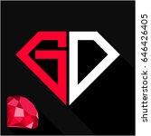 initials letter g   d in... | Shutterstock .eps vector #646426405