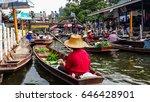 tha kha floating market  samut... | Shutterstock . vector #646428901