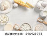 dairy products on table  top... | Shutterstock . vector #646429795