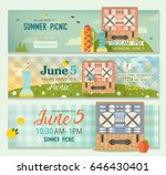 vector summer collection of... | Shutterstock .eps vector #646430401