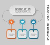 vector infographic template for ... | Shutterstock .eps vector #646430461