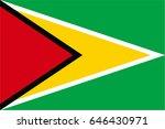 guyana flag | Shutterstock .eps vector #646430971