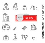 medical icons with white... | Shutterstock .eps vector #646434454