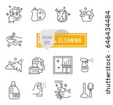 simple set of cleaning related... | Shutterstock .eps vector #646434484