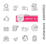 simple communication icons.... | Shutterstock .eps vector #646435021