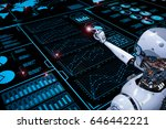 3d rendering robot working with ... | Shutterstock . vector #646442221