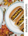 hot dogs on a spring day  | Shutterstock . vector #646442431
